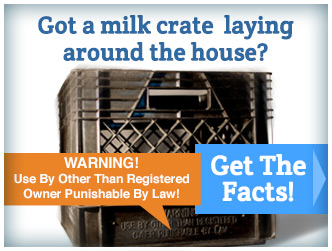 Get the facts on milk crate use