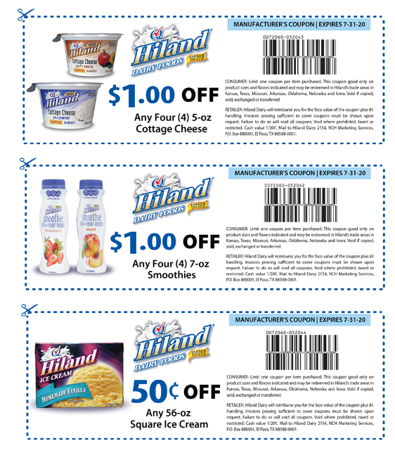 picture relating to Ice Cream Coupons Printable titled Hiland Dairy Discount coupons
